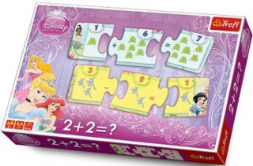 TREFL Puzzle Matematika 2+2=? Princezny