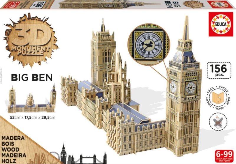 EDUCA 3D puzzle Big Ben a Westminsterský palác 156 dílků
