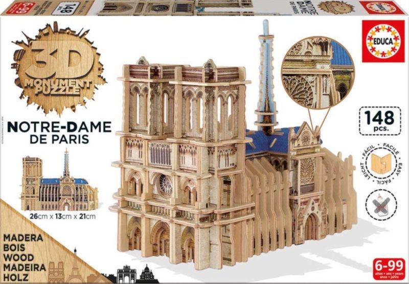 EDUCA 3D puzzle Katedrála Notre-Dame 148 dílků