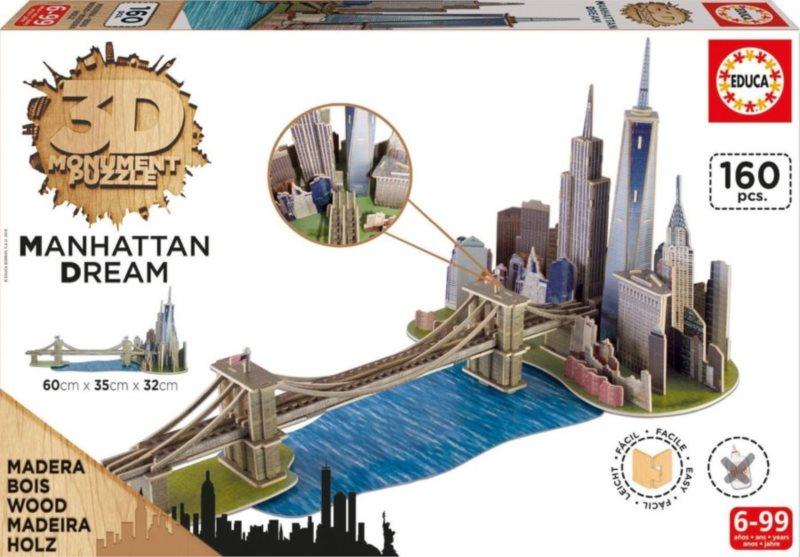EDUCA 3D puzzle Manhattan 160 dílků