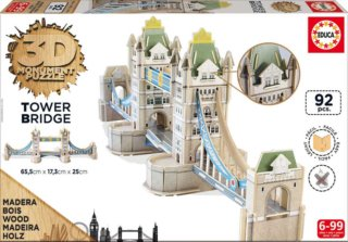 EDUCA 3D puzzle Tower Bridge 92 dílků