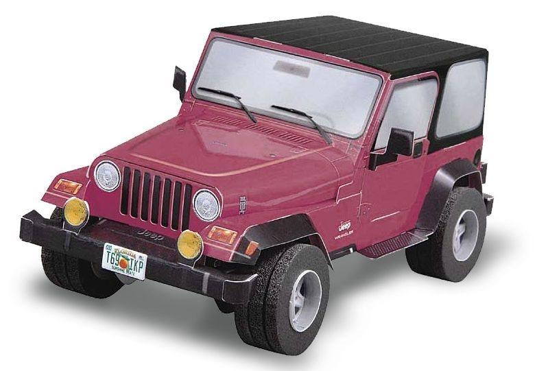 UMBUM 3D puzzle Jeep Wrangler (růžový)