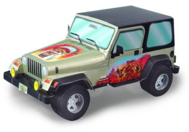 UMBUM 3D puzzle Jeep Wrangler (s indiánským potiskem)