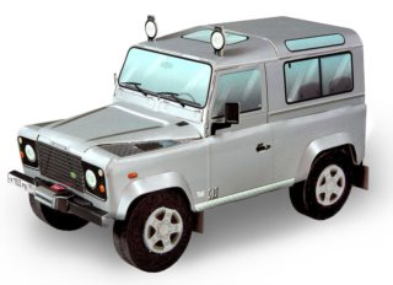 UMBUM 3D puzzle LandRover Defender 90 (stříbrný)