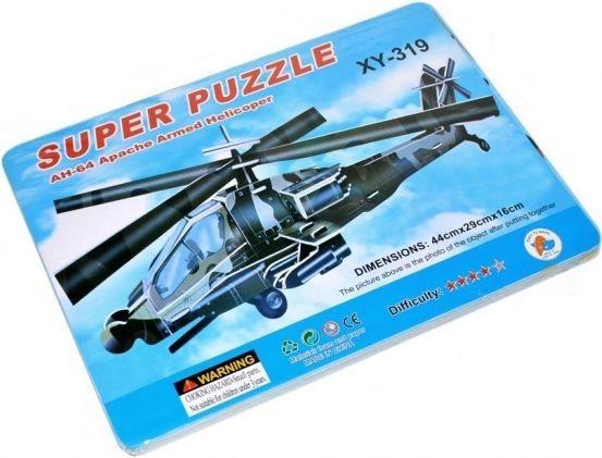3D puzzle - Letadlo AH-64 Apache Armed Helicoper 3D