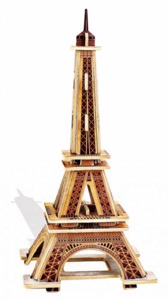 EDUCA 3D Dřevěné puzzle Eiffelova věž 22 dílků