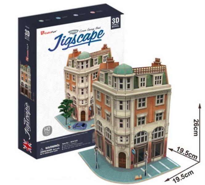 3D puzzle CUBICFUN - Banka na rohu 94 dílků