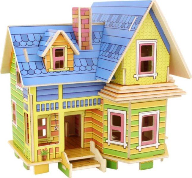 ROBOTIME 3D puzzle Barevný domeček barevný 53 dílků