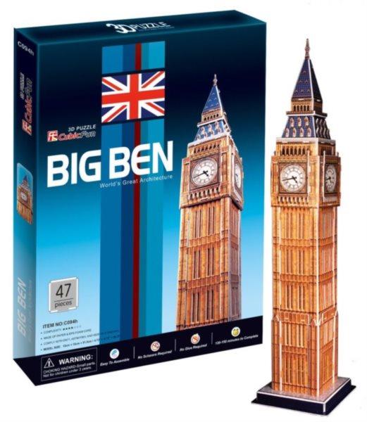CUBICFUN 3D puzzle Big Ben (střední) 47 dílků