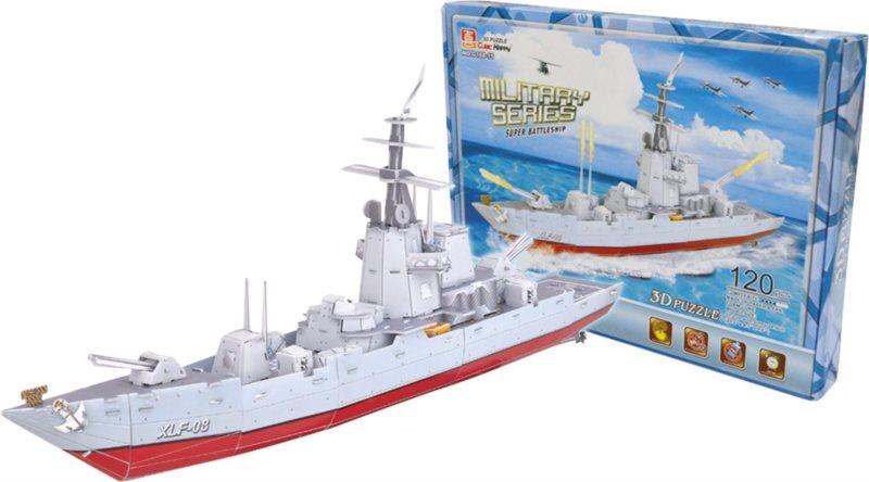 CUBIC HAPPY 3D puzzle Bojová loď XLF-08, 120 dílků