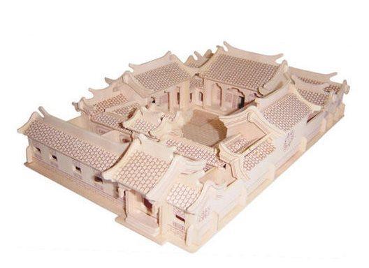 WOODEN TOY , WCK 3D puzzle Čínský dům s nádvořím