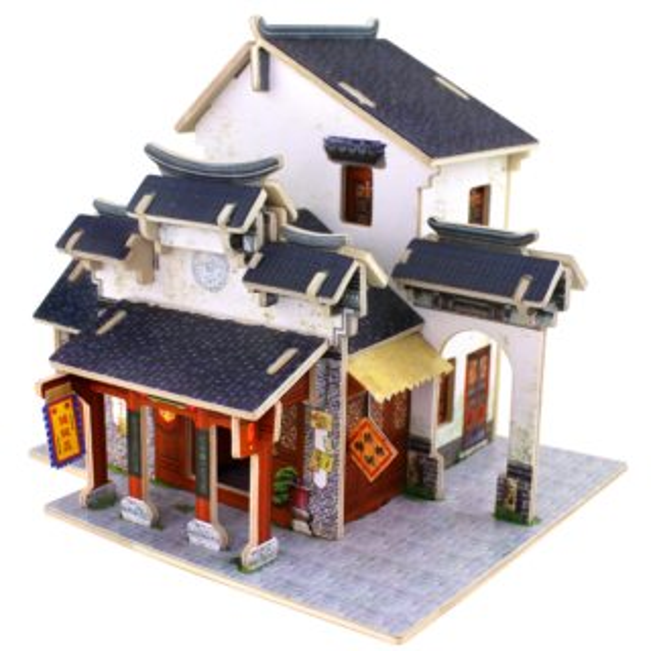 ROBOTIME 3D puzzle Čínský obchod s hedvábím barevný 41 dílků
