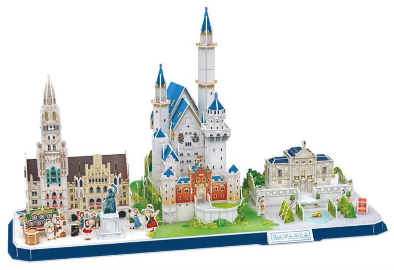 CUBICFUN 3D puzzle CityLine panorama: Bavorsko 178 dílků