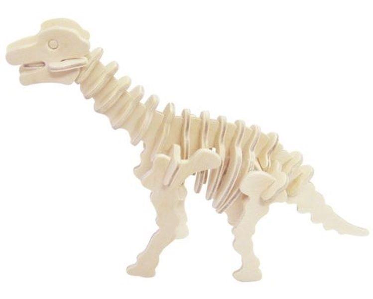 WOODEN TOY , WCK 3D puzzle Brachiosaurus malý