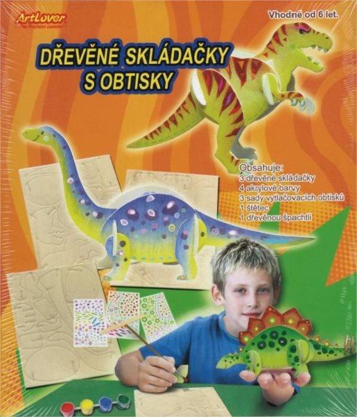 ARTLOVER 3D puzzle Dinosauři s barvičkami - sada 3ks