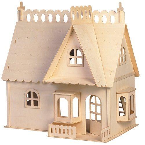 WOODEN TOY , WCK 3D puzzle Dům s terasou