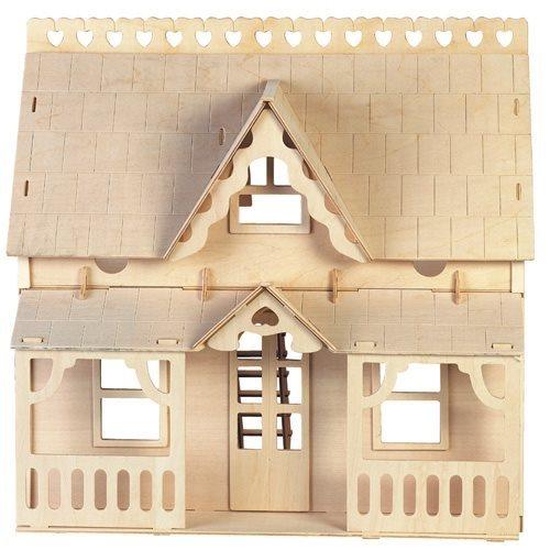 WOODEN TOY , WCK 3D puzzle Dům s verandou