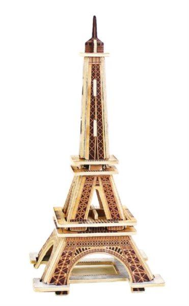 ROBOTIME 3D dřevěné puzzle Eiffelova věž 22 dílků barevná