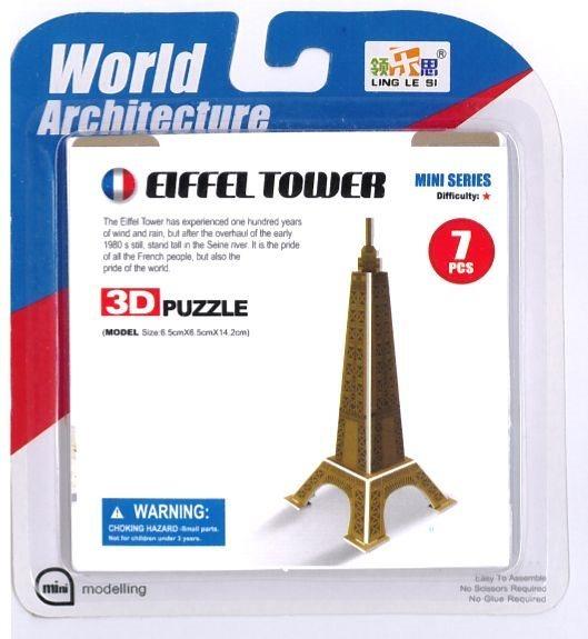 3D puzzle Eiffelova věž 7 dílků