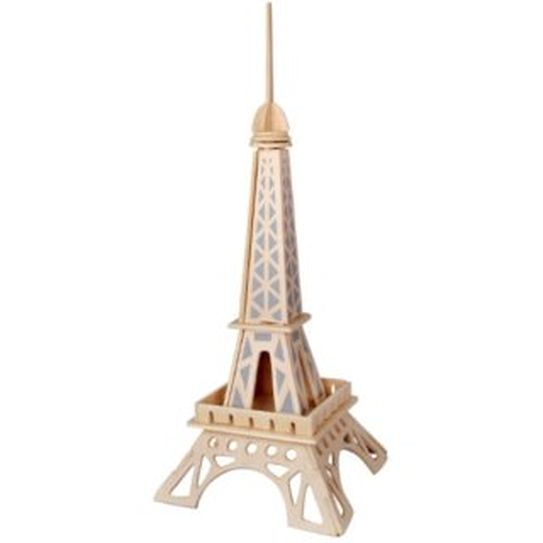 WOODEN TOY , WCK 3D puzzle Eiffelova věž mini