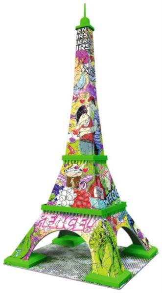 3D puzzle RAVENSBURGER 216 dílků - Eiffelova věž 3D (Pop Art)