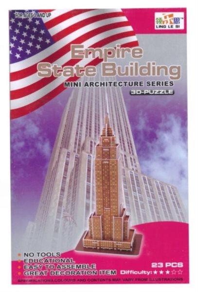 LING LE SI 3D puzzle Empire State Building 23 dílků