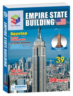 MAGIC PUZZLE 3D puzzle Empire State Building 39 dílků