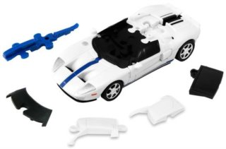 HAPPY WELL 3D Puzzle Ford GT 1:43 bílý