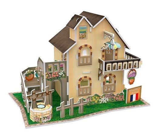 3D puzzle CUBICFUN - Francouzská zahradní chata 36 dílků
