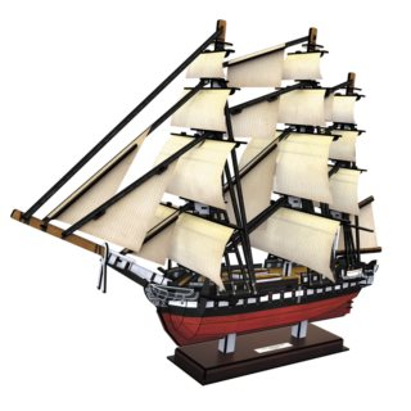 CUBICFUN 3D puzzle Fregata USS Constitution 193 dílků