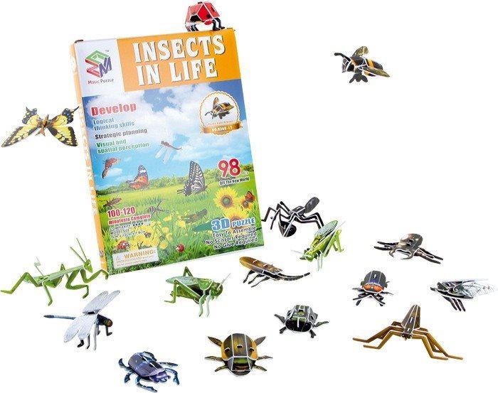 MAGIC PUZZLE 3D puzzle Hmyzí říše (16 brouků) 98 dílků
