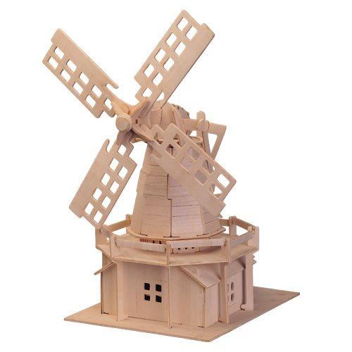 WOODEN TOY , WCK 3D puzzle Holandský větrný mlýn