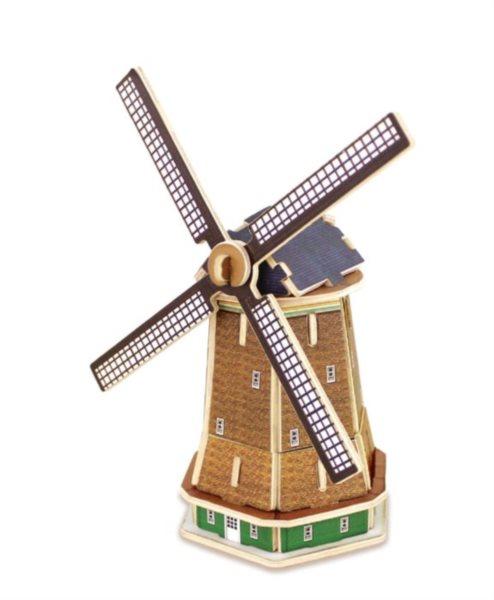 ROBOTIME 3D puzzle Holandský větrný mlýn barevný 36 dílků