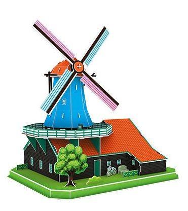 CUBICFUN 3D puzzle Holandský větrný mlýn 71 dílků