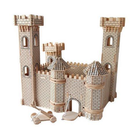 3D dřevěné puzzle Hrad