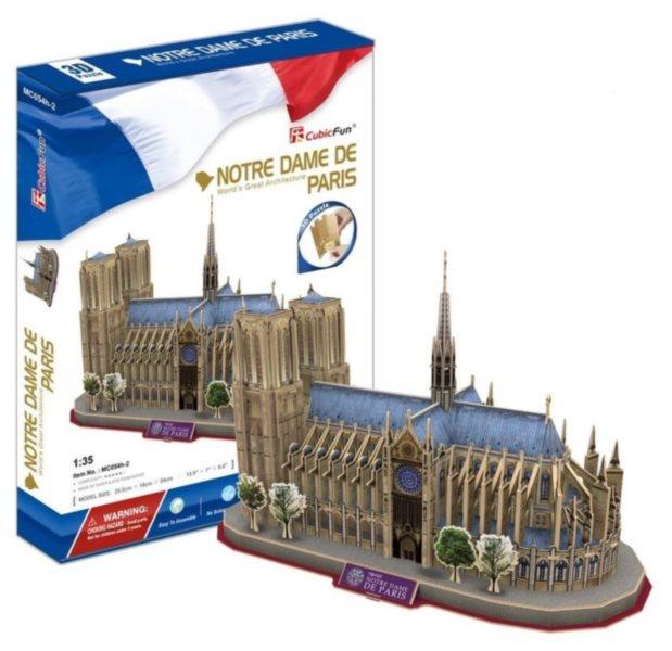 CUBICFUN 3D puzzle Katedrála Notre-Dame 128 dílků
