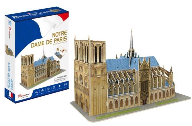 CUBICFUN 3D puzzle Katedrála Notre-Dame 53 dílků