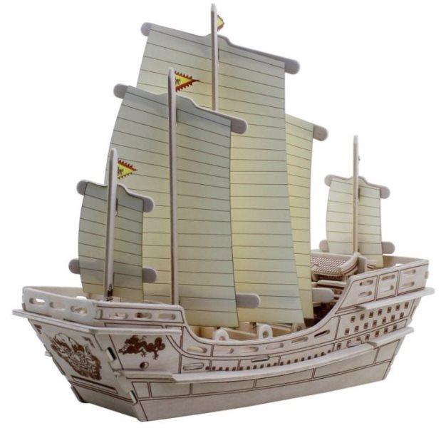ROBOTIME 3D puzzle Koráb Čeng Che 66 dílků