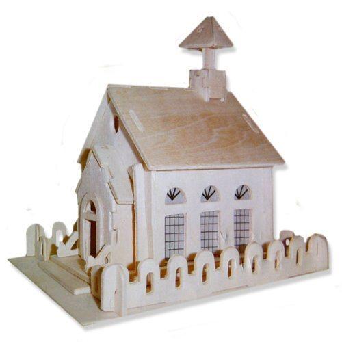 3D dřevěné puzzle Kostel