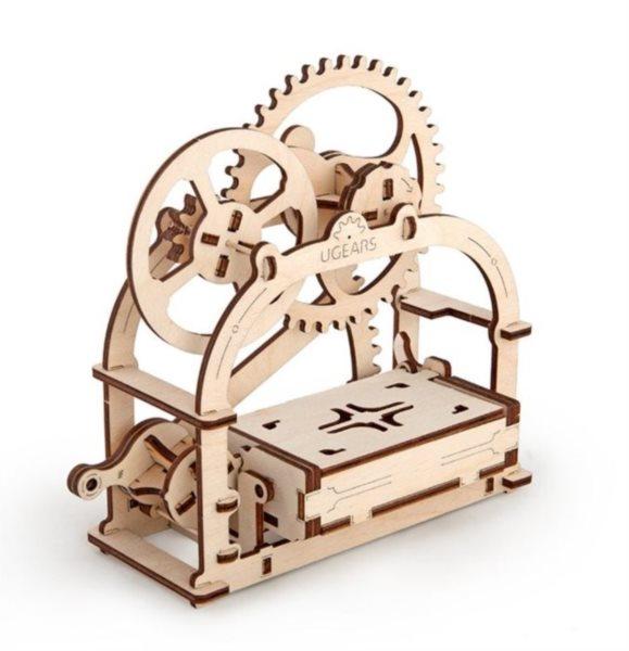 Ugears 3D mechanické puzzle Krabička na vizitky