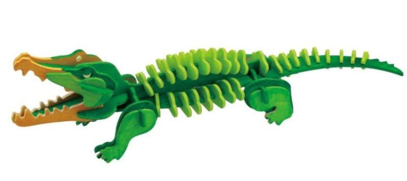 ROBOTIME 3D puzzle Krokodýl s barvičkami