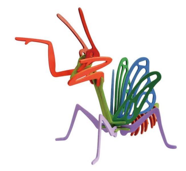 ROBOTIME 3D puzzle Kudlanka s barvičkami