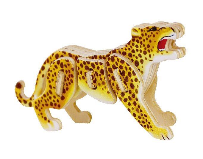 ROBOTIME 3D puzzle Leopard barevný