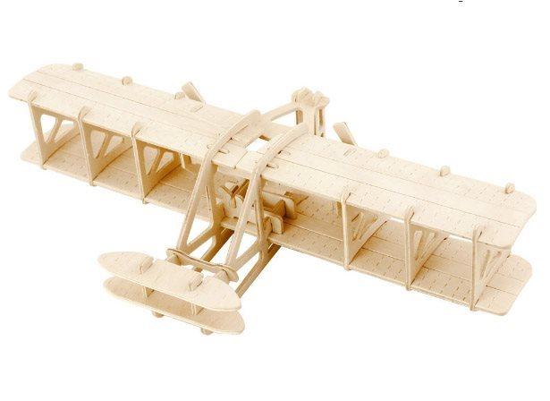 ROBOTIME 3D dřevěné puzzle Letadlo bratrů Wrightových
