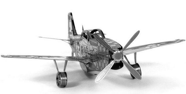 3D kovové puzzle 3D NANO PUZZLE Letadlo Mustang P-51