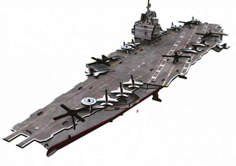 CUBICFUN poškozený obal: 3D puzzle Letadlová loď USS Enterprise 121 dílků