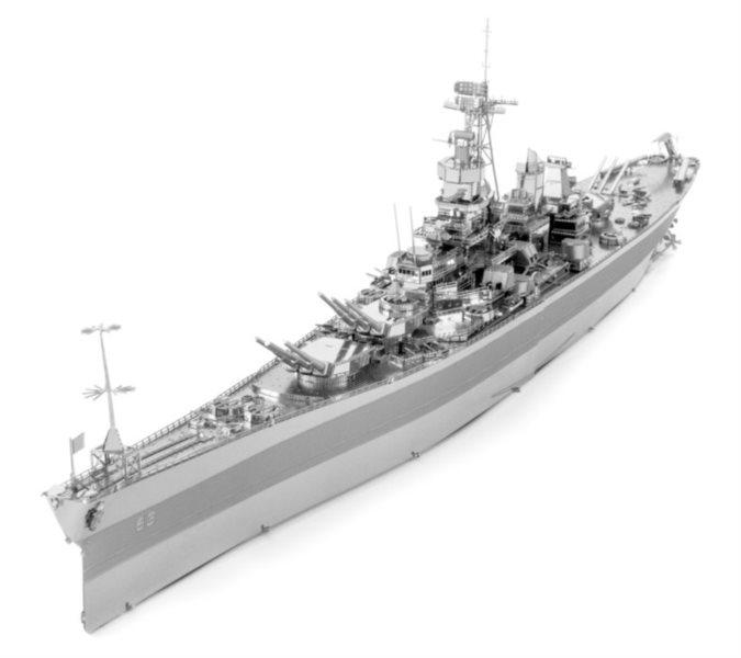METAL EARTH 3D puzzle Letadlová loď USS Missouri BB-63 (ICONX)