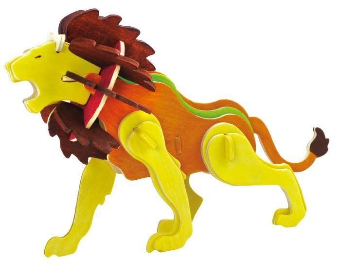 ROBOTIME 3D puzzle Lev s barvičkami