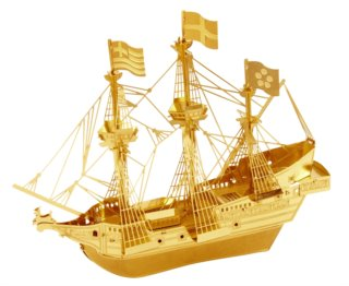 METAL EARTH 3D puzzle Loď Golden Hind (zlatá)