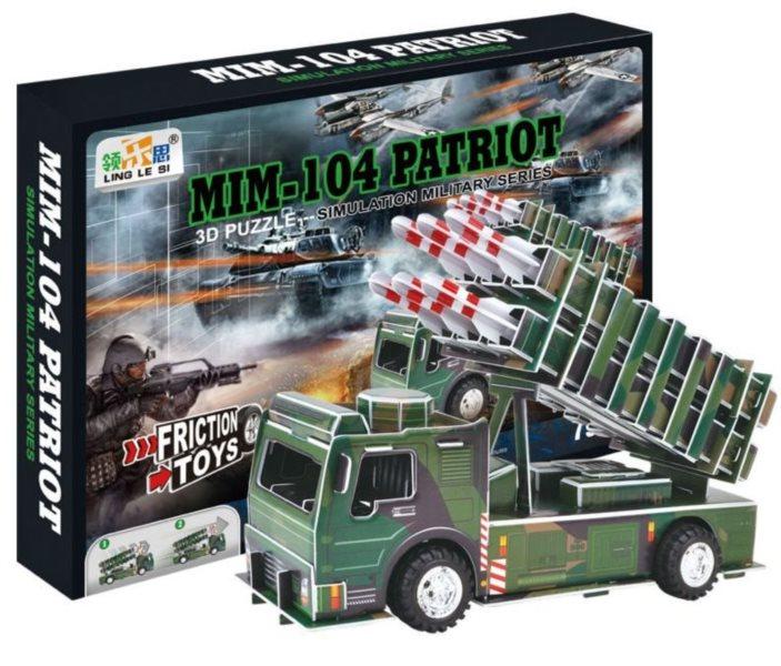 LING LE SI 3D puzzle MIM 104 Patriot 79 dílků